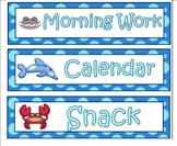 Ocean/Under the Sea Schedule Signs