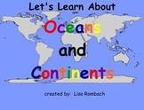 Oceans & Continents Social Studies SmartBoard Lesson Prima
