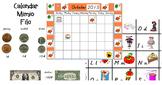 October Calendar Mimio File