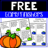 October Early Finishers {FREEBIE}