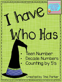 October I Have Who Has (Math Number ID)