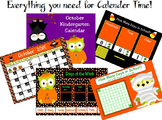 October Kindergarten Calendar for ActivBoard