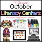 October Literacy Center Menu 1st Grade