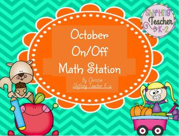 October On/Off Math Work Station {Addition Practice}