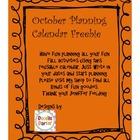 October Planning Calendar (Freebie)