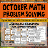 October Problem Solving with Addition and Subtraction ~ 32
