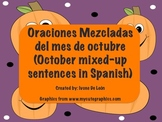 October Scrambled Sentences in SPANISH!
