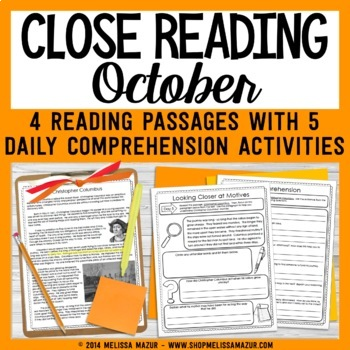 Close Reading - October