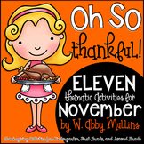 Oh So Thankful: An Activity Pack for November