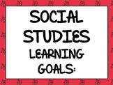 Ohio State Standards I Can Statements for 3rd Social Studies