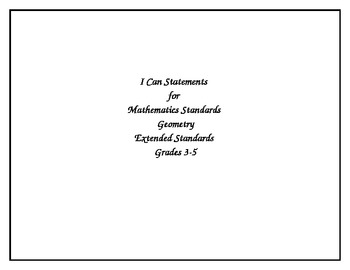Ohio's Academic Content Standards-Extended Math Grades 3-5