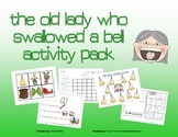 Old Lady Swallowed a Bell Math & Literacy activity pack