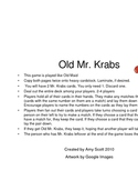 Old Mr. Krabs Numeral Recognition Game