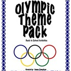 Olympic Theme Pack:  Back to school activities (English)