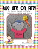 On Fire! Athletic Games Torch {craftivity and bulletin boa