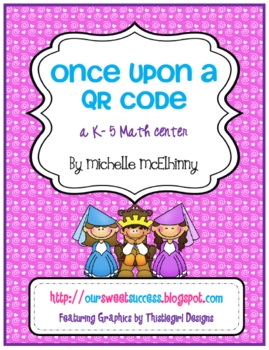 Once Upon a QR Code {technology integrated math center}