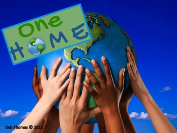 """""""One Home"""" Earth Day Math Centers"""