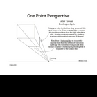 One Point Perspective How To