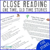 One Time Old Time Stories {Close Reading - Grades 4-6}