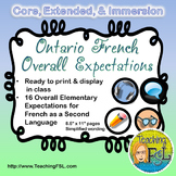 Ontario French Curriculum Overall Expectations