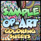 Op-Art Coloring Sheets Sample Pack