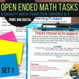 Open Ended Math Challenges Set 1--Grades 3-6
