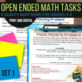 Open Ended Math Challenges Set 1--Grades 3-5