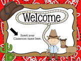 Open House Cowboy/Western Themed Powerpoint Template