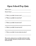 Open House Pop Quiz
