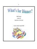 Operations on Decimals: What's For Dinner? Math Project Gr