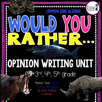Opinion Writing Unit {CCSS Aligned for 3rd, 4th, and 5th Grade}