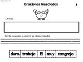 Mixed Up Sentences- Oraciones Mezcladas- 1st and 2nd set 1