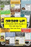 Language Arts Bundle #1 Order Up! (10 Sets)