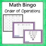 Order of Operations Bingo