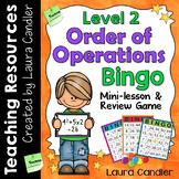 Order of Operations Bingo Level 2 (5th Grade)