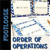Order of Operations Task Cards - Footloose Activity