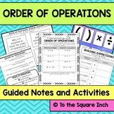 Order of Operations Interactive Notebook Pages and Activities