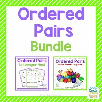 Ordered Pairs Bundle: Ordered Pairs and Scavenger Hunt