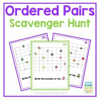Ordered Pairs Scavenger Hunt