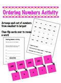 Ordering Numbers Activity - decimals & negatives