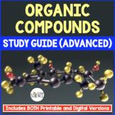 Organic Compounds Quiz / Homework / Review
