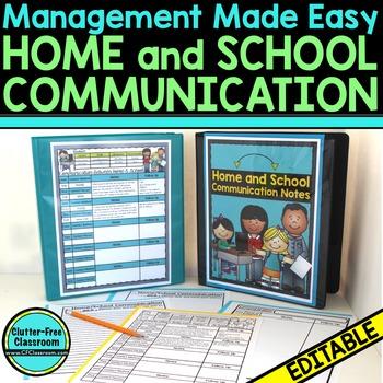 Organize YOUR PARENT COMMUNICATION NOTES - {Blackline Desi