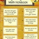 Organizing Your Math Notebook Poster