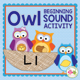 Owls: Owl Initial Sound Sort Activity for Early Childhood
