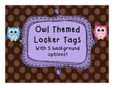 Owl Locker Tags