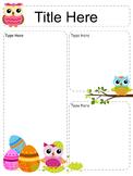 Owl Newsletter Templates - set of 11