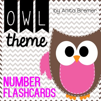 Owl Number Flashcards