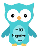 Owl Number Line with Negatives