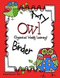 Owl Organizational Binder Set