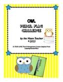 Owl Pencil Supply Classroom Management System Reward Back